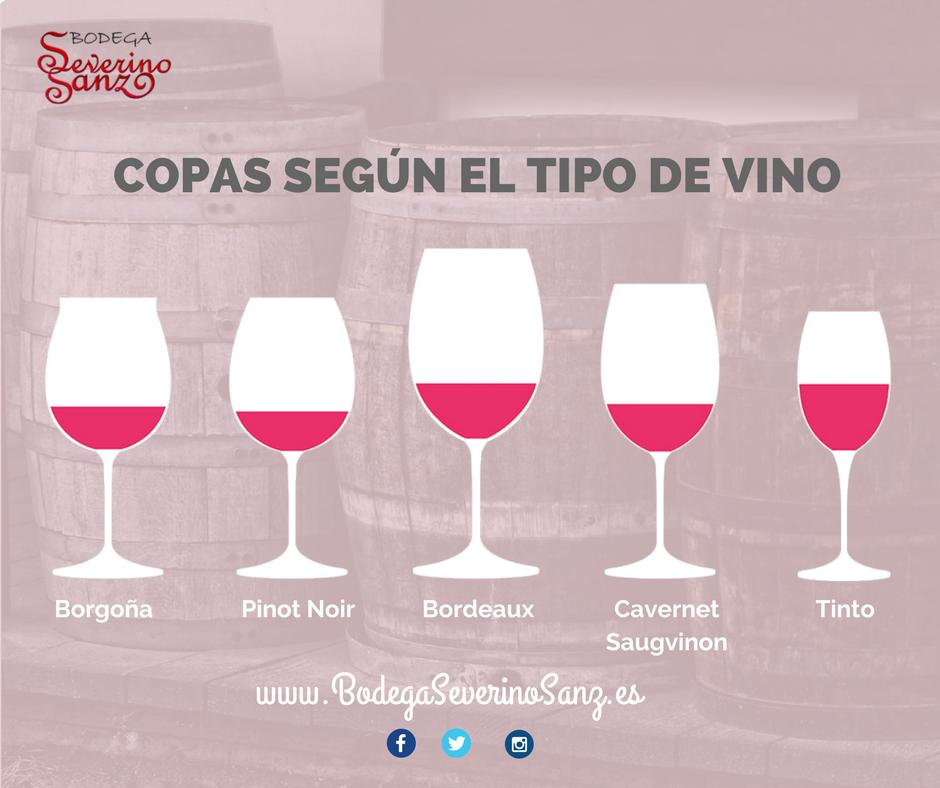 copas segun el tipo de vino